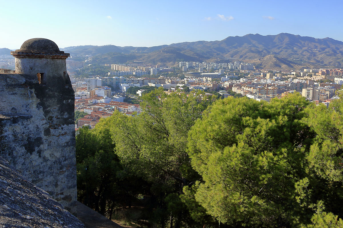 Малага: Гибралфаро и гледките