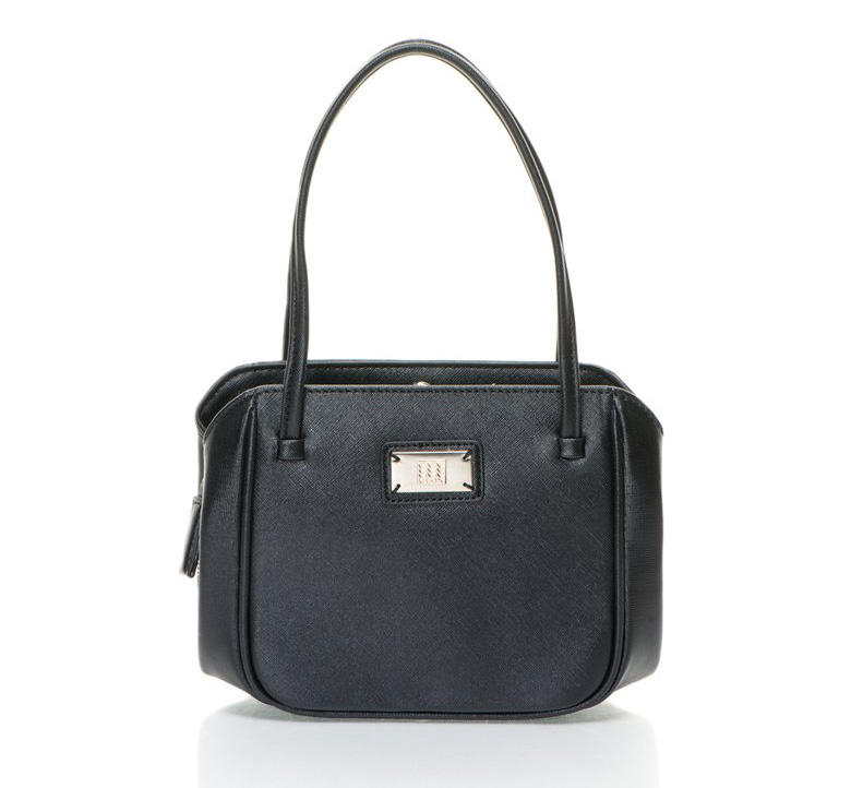 Geox : Black 3 Compartments Handbag | FashionDays