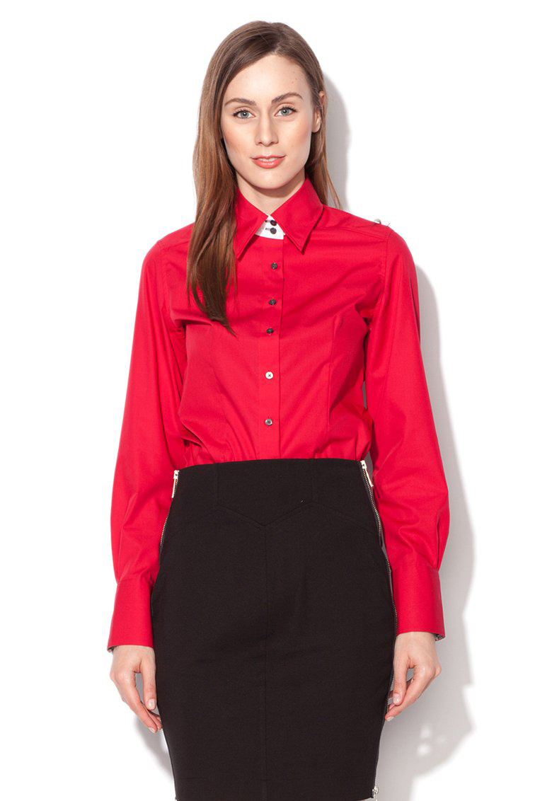 Vincenzo Boretti : Red Modern Fit Shirt With Kent Collar | FashionDays