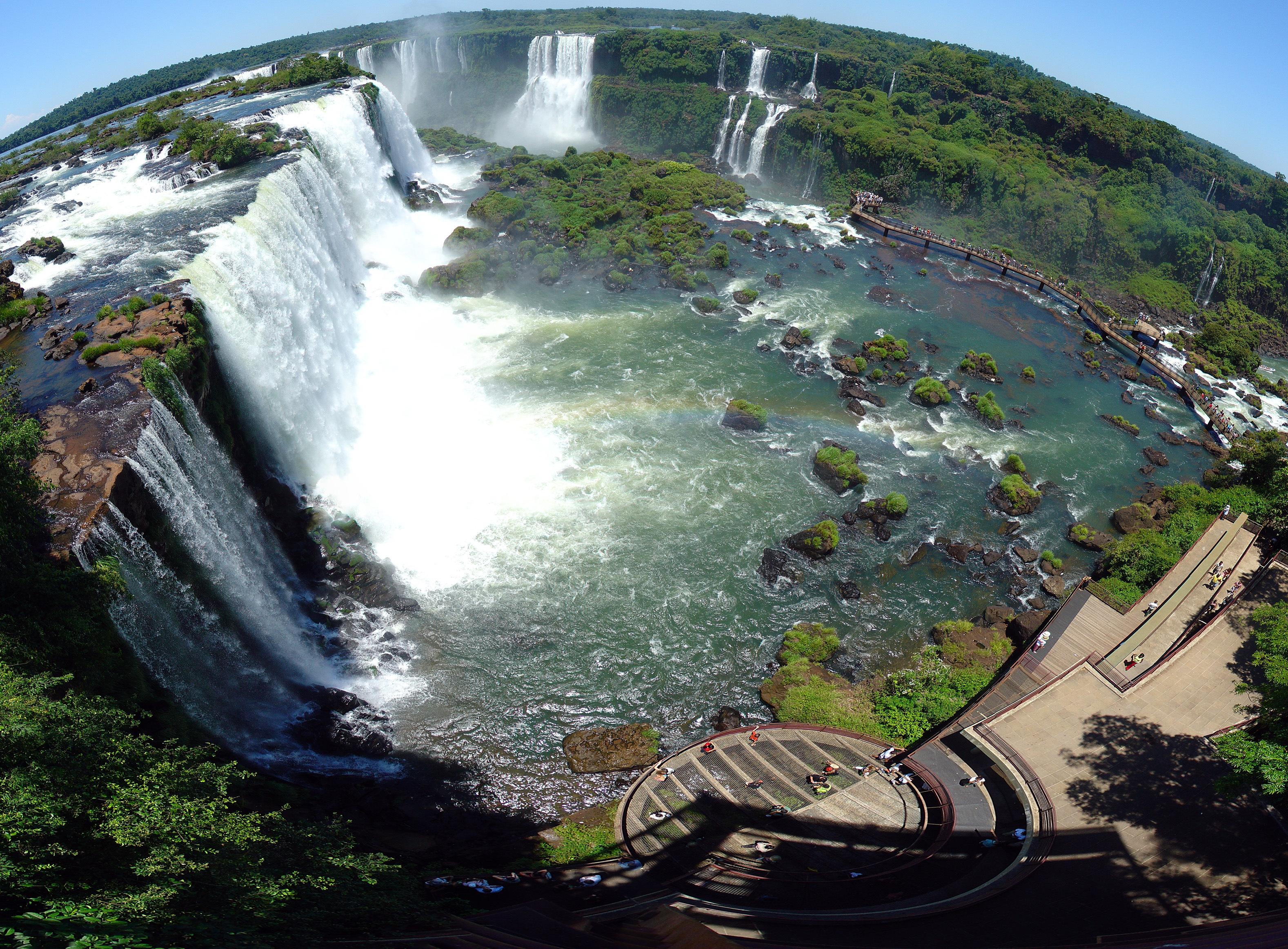 7.Бразилия - Наблюдателна площадка на водопада Игуасу