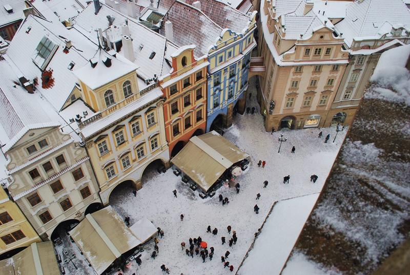 Прага отвисоко