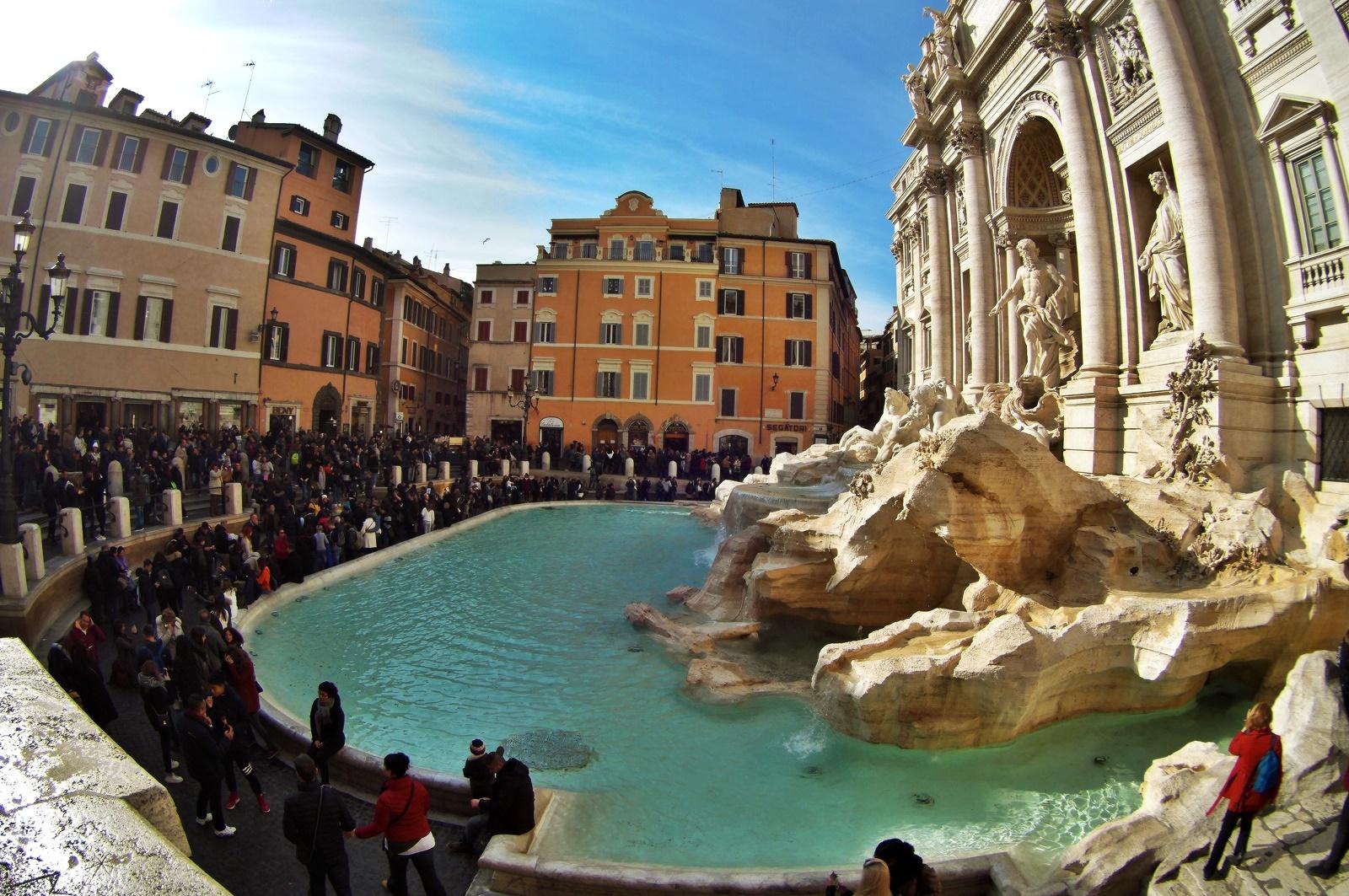 Рим за 3 дни - фонтанът Треви