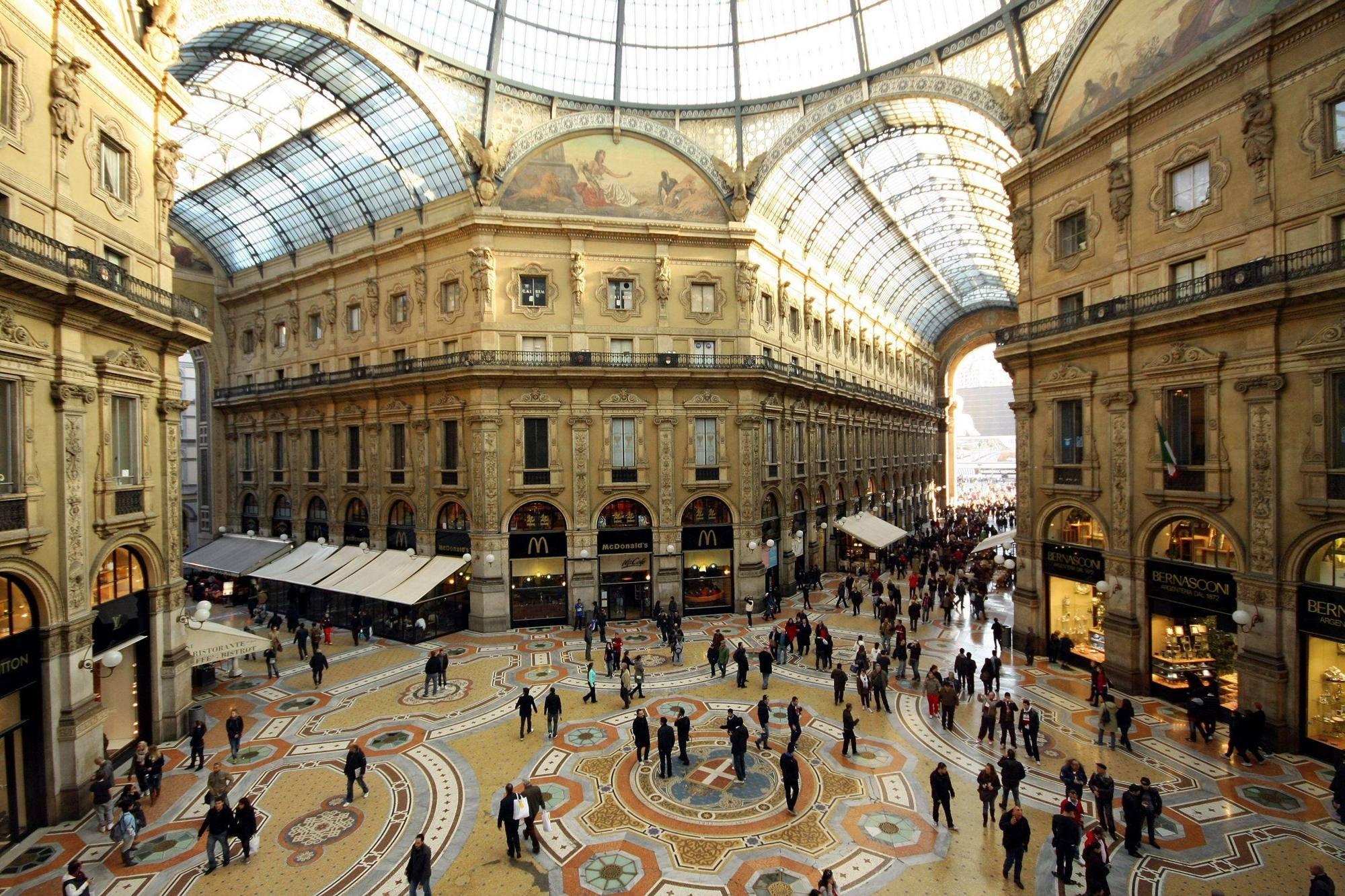 Галерия Виторио Емануеле ІІ, Милано, Италия