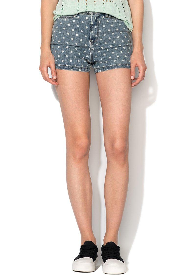 Vero Moda : Wonderful Blue Denim Shorts With White Dots | FashionDays