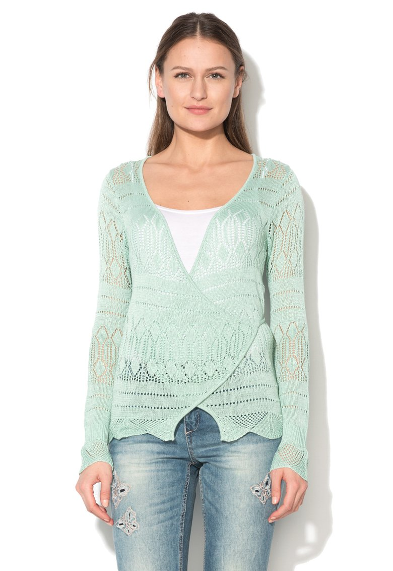 Cream : Soon Mint Green Cache Coeur Cardigan | FashionDays