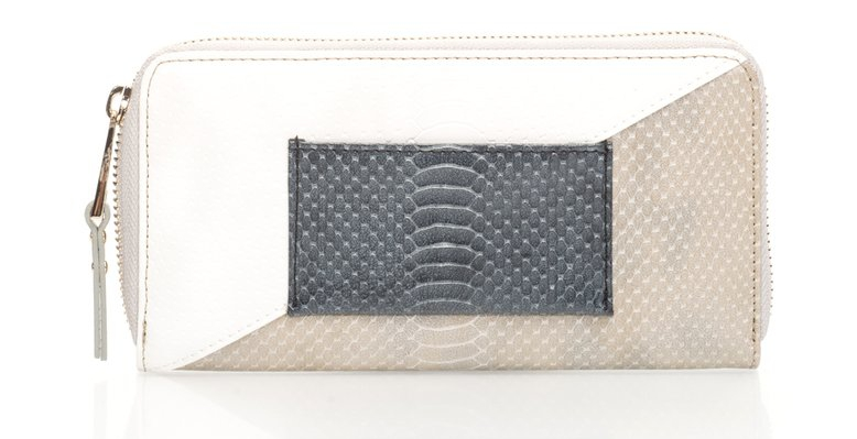 French Connection : Chelsea Colorblock Wallet With Snake Texture | FashionDays