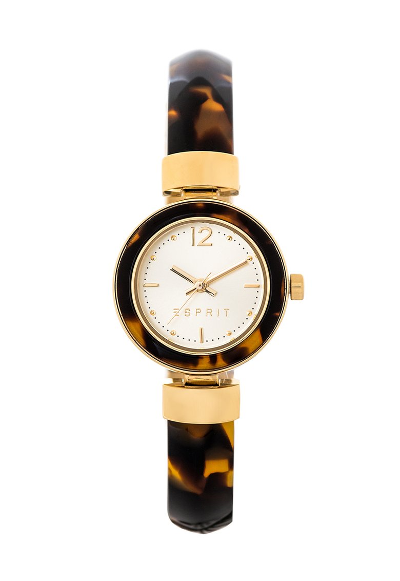 ESPRIT : Jody Golden & Havana Brown Watch With Logo
